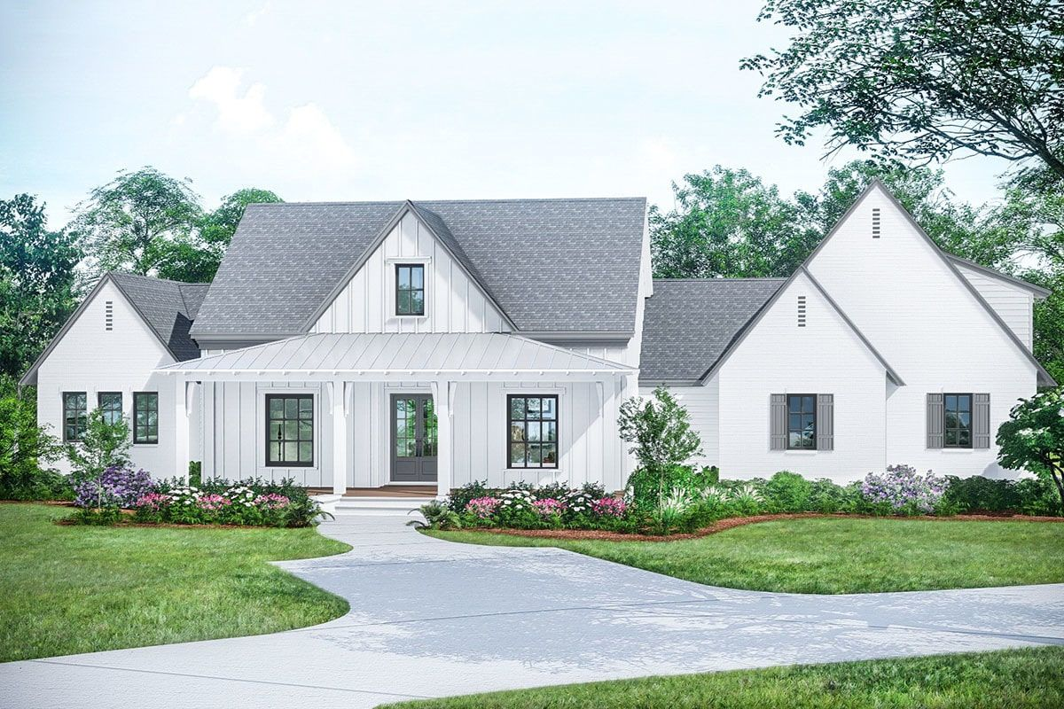 Two Story 4 Bedroom Exclusive Acadian Style Modern Farmhouse with Children s Loft Floor Plan