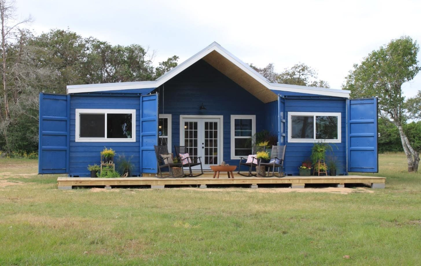 2 40' shipping container home plans