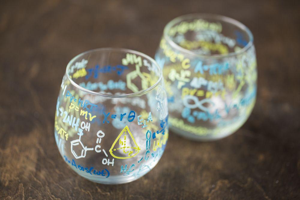 DIY Formula Drinking Glasses