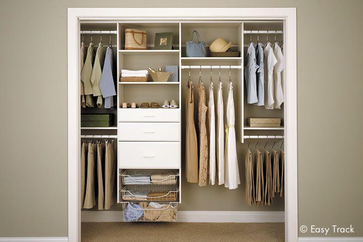 Beau Closet Organizers | Custom Closet Systems By Easy Track Menards