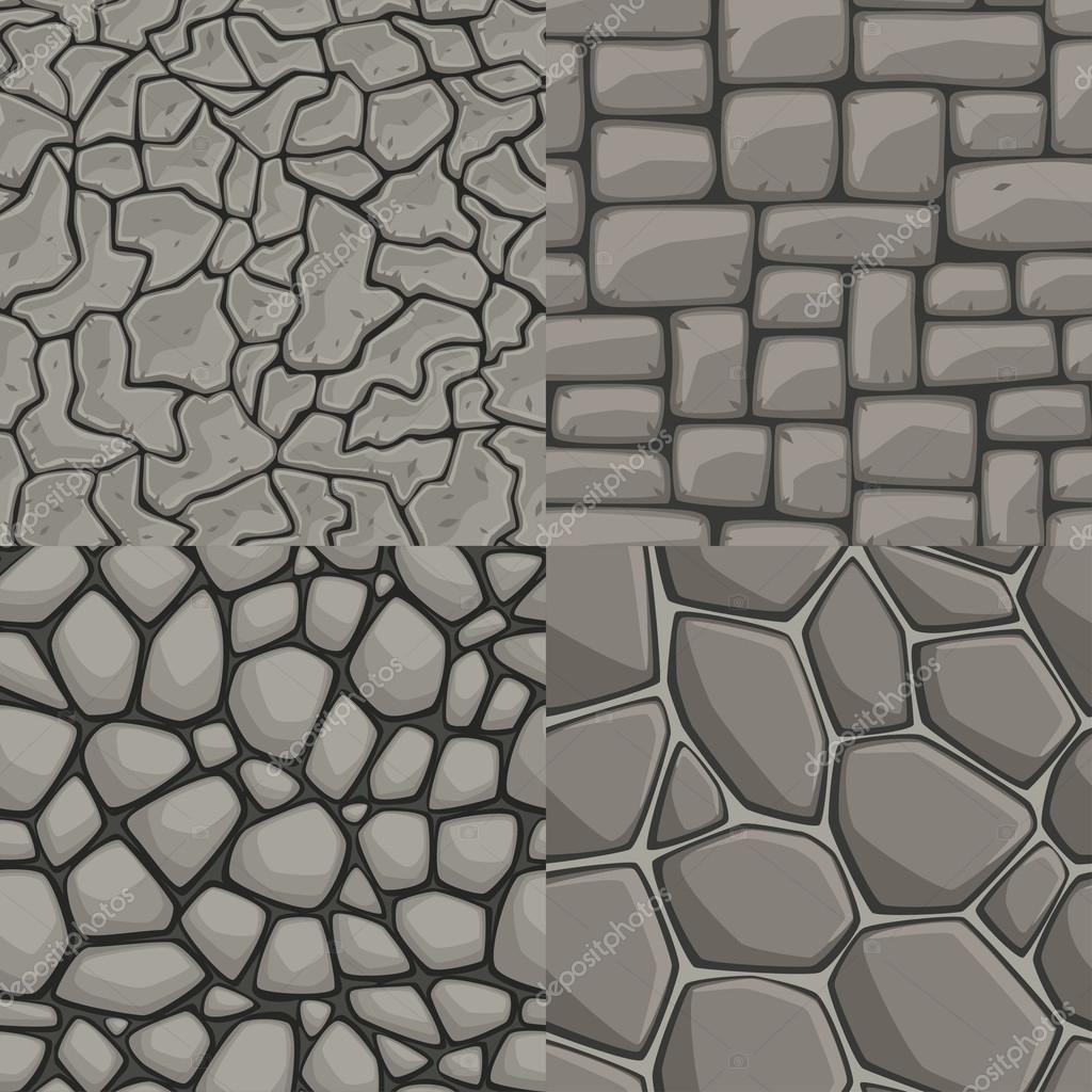 Coleccion De Textura Transparente De Pared De Piedra De Dibujos Animados Vector Piedras Textura Textura De Piedra Texturas Dibujo