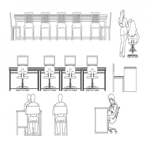 Autocad Bank Furniture blocks & DWG Models in 2020