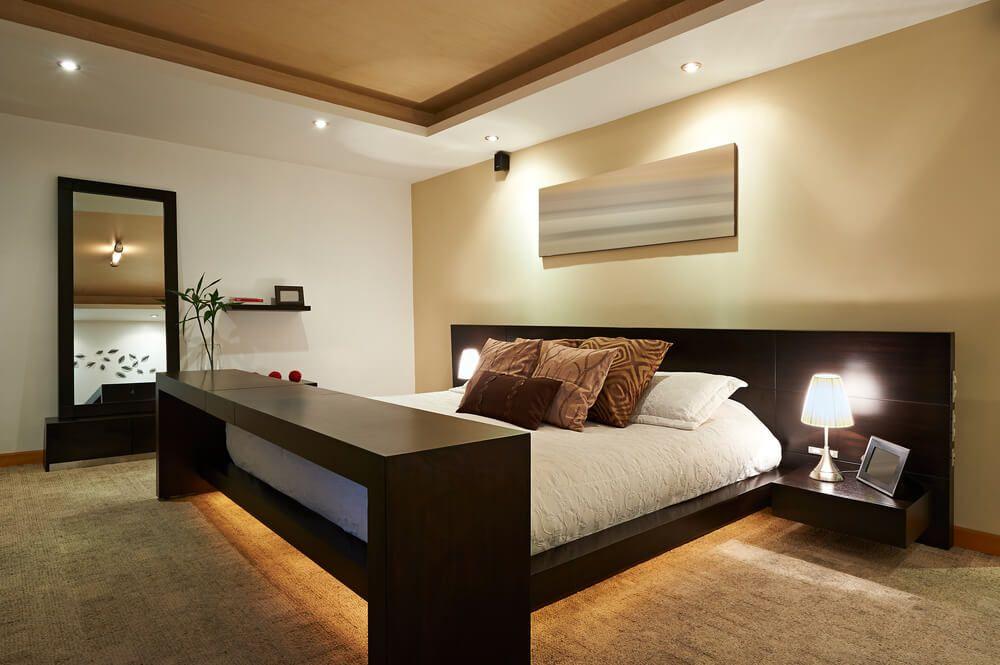 Modern Master Bedroom Decorating Ideas Bedroom Designs Simple Design With Dark Brown Bed Frame A Small Bedroom Remodel Remodel Bedroom Modern Bedroom Interior