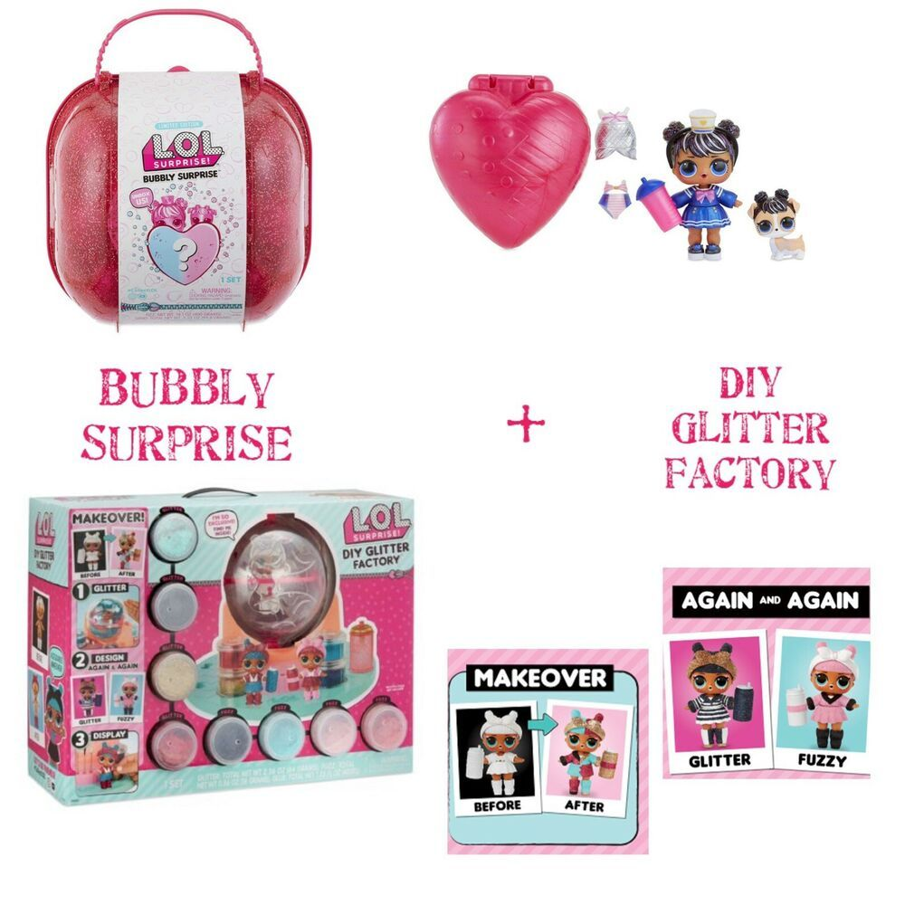 1 Lol Surprise Diy Glitter Factory Series 5 Makeover1 Bubbly