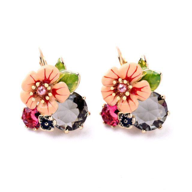 Flowers Color Focus Earrings