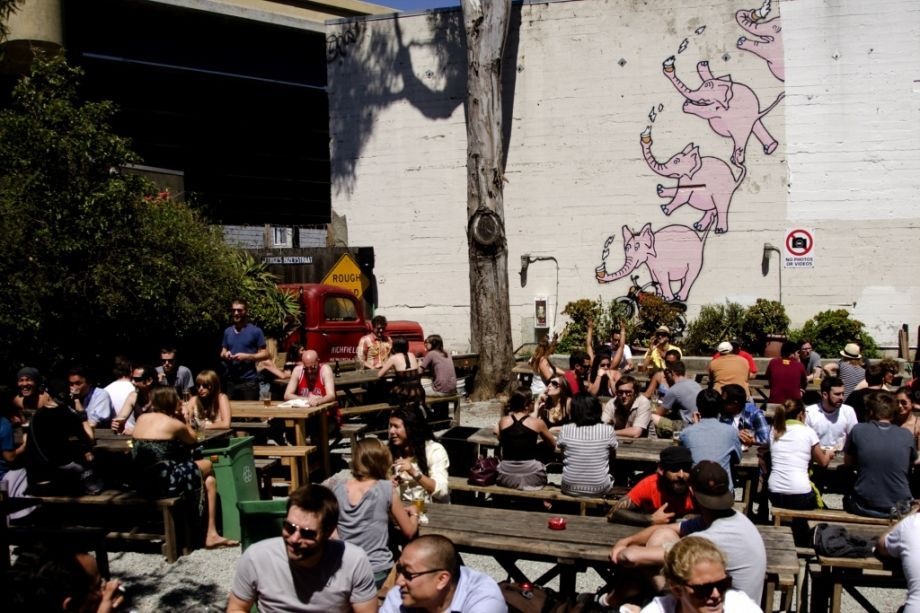 Zeitgeist 199 Valencia St., SF (415) 255-7505This SF classic earned a place on the most-popular list, despite its reputation for a surly staff and ever-present security. The bar's infamous patio and picnic tables make it a natural spot for groups to gather, even if they're known for having a low tolerance for overly rowdy patrons.Zeitgeist: Popular with Uber or Lyft riders? Photo: Scott Borstad
