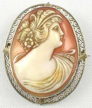 Cameo jewelry ceres goddess of the harvest edwardian white gold cameo jewelry ceres goddess of the harvest edwardian white gold filigree mounted carnelian mozeypictures Choice Image