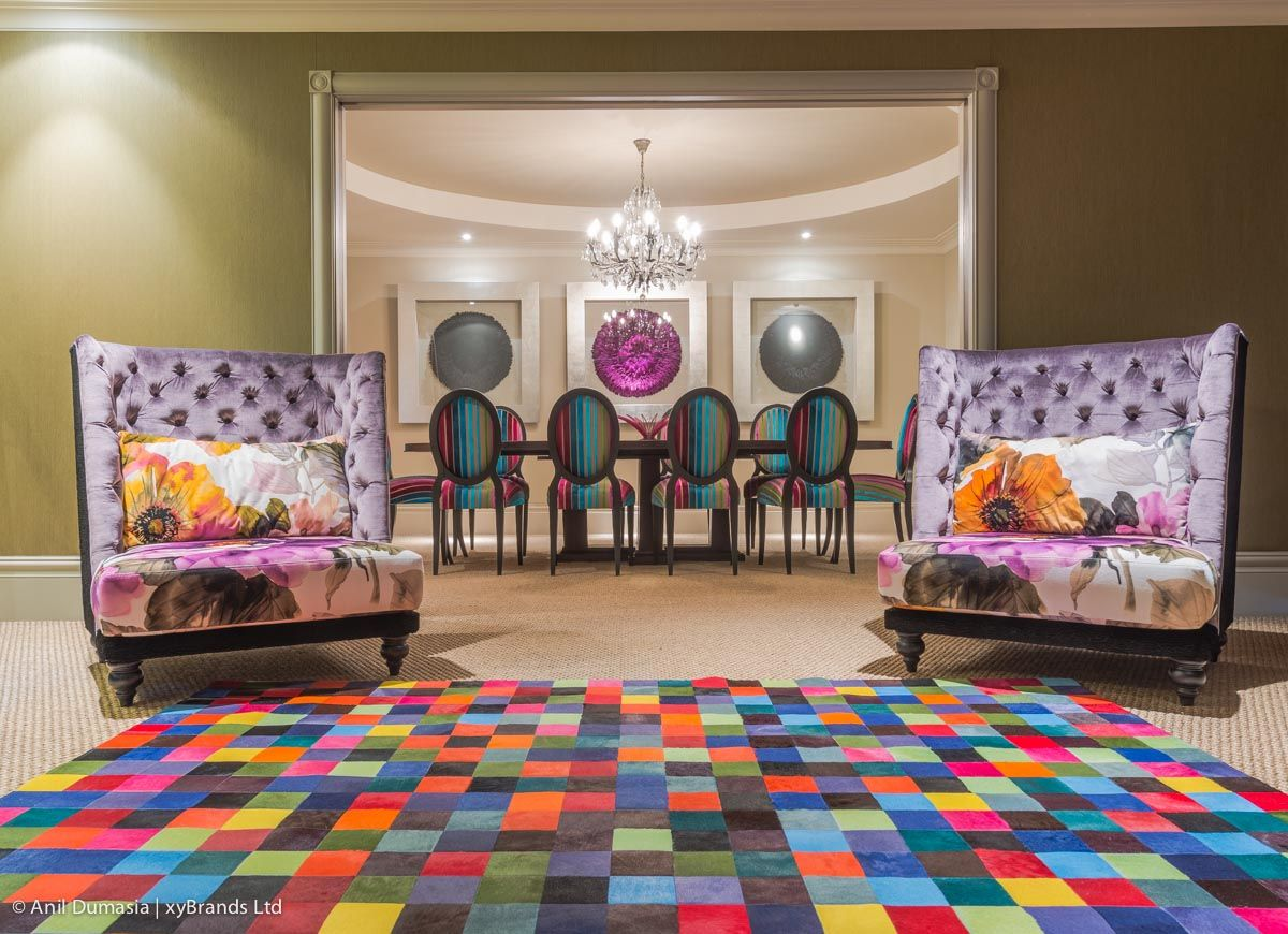 The Pixel Multi Coloured Cowhide Rug Design By Gorgeous Creatures Uses 10cm Squares Of Colourful Dyed