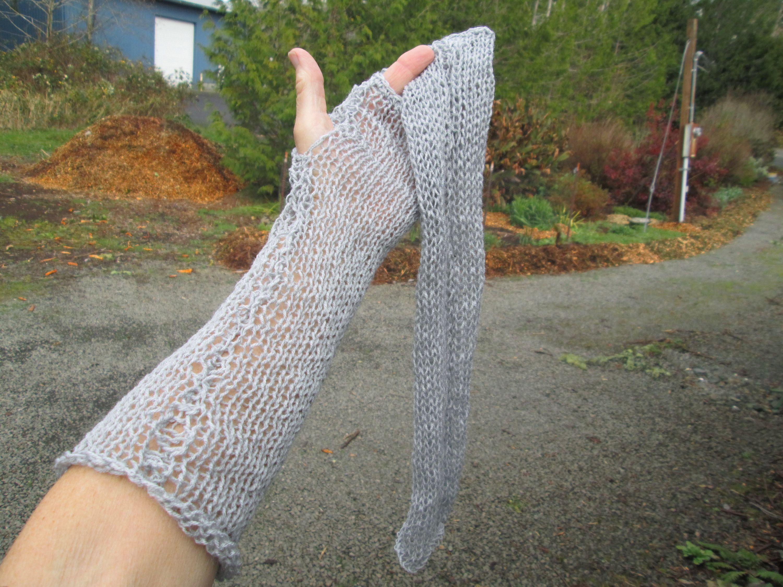 Coffee Grey Dark Gray Four-color Long Fingerless Gloves Popular On Market