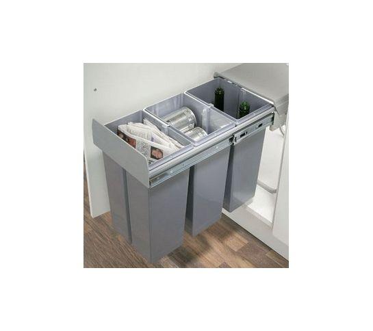 Kitchen Pull Out Waste Bin Hinged Door 30 Litres 300mm Base - küchen mülleimer einbau