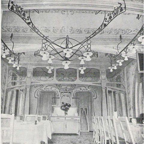 restaurant le pavillon bleu de l 39 exposition universelle de 1900 architecte ren dulong. Black Bedroom Furniture Sets. Home Design Ideas