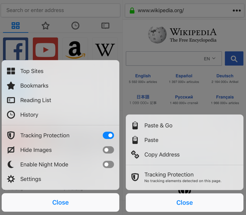 Firefox 11.0 for iOS arrives with tracking protection on