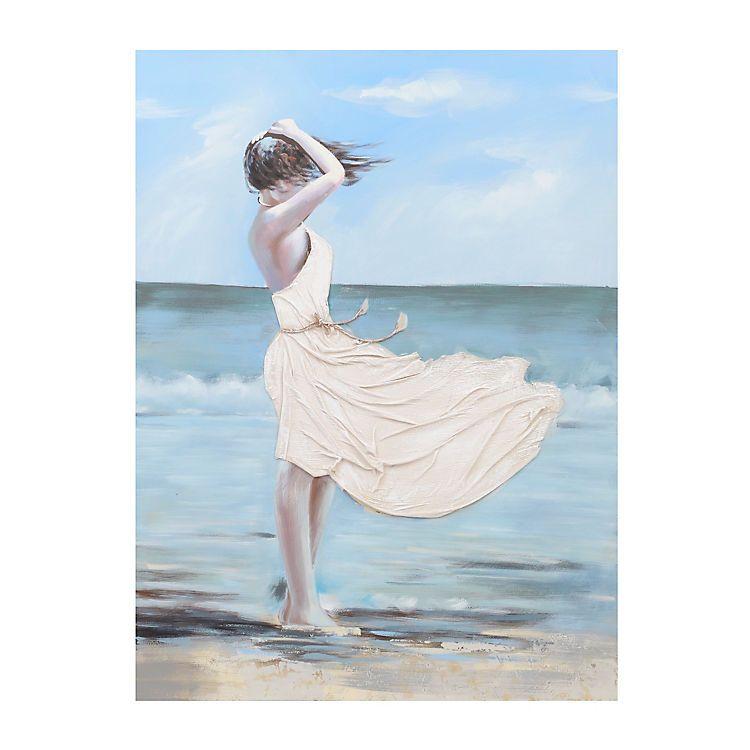 Windy Beach Canvas Art With Images Beach Canvas Art Beach