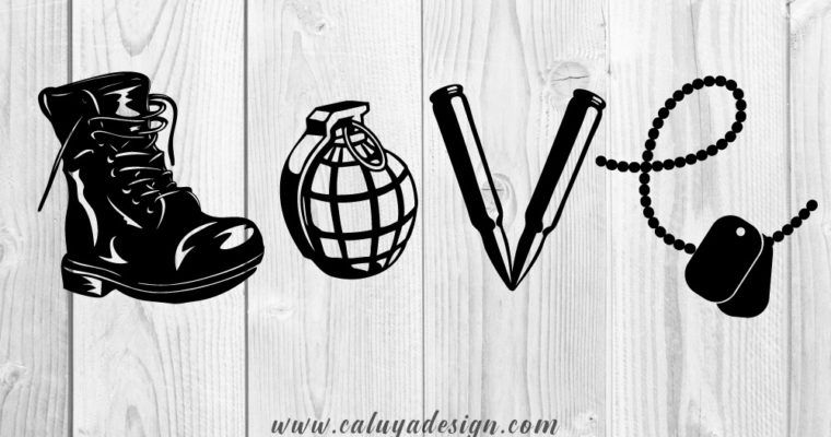 Download FREE LOVE ARMY SVG, PNG, DXF & EPS (With images) | Army ...