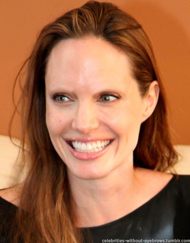 Angelina Jolie Looking A Bit Different Without Her Eyebrows