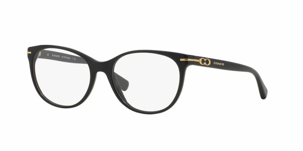 🌹COACH Frames Women Plastic Round Eyeglasses Black HC6056 BETTY T ...