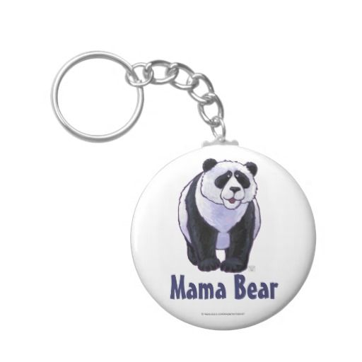 Mama Bear Panda Bear Key Chain by Imagine That! Design. Perfect gift for her on Mother's Day.