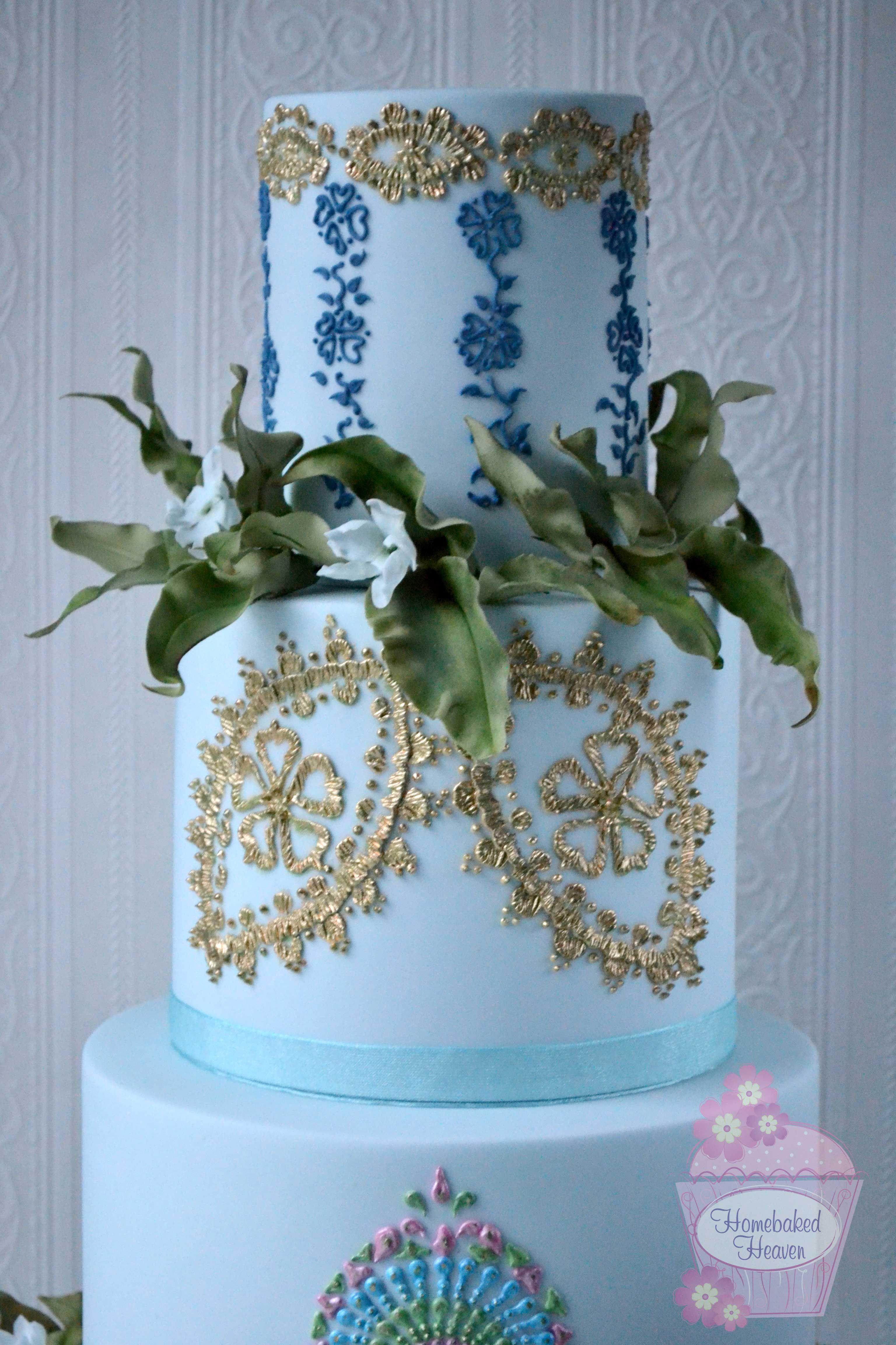 "Wedding cake design ""Esmée"" inspired by Claire Pettibone"