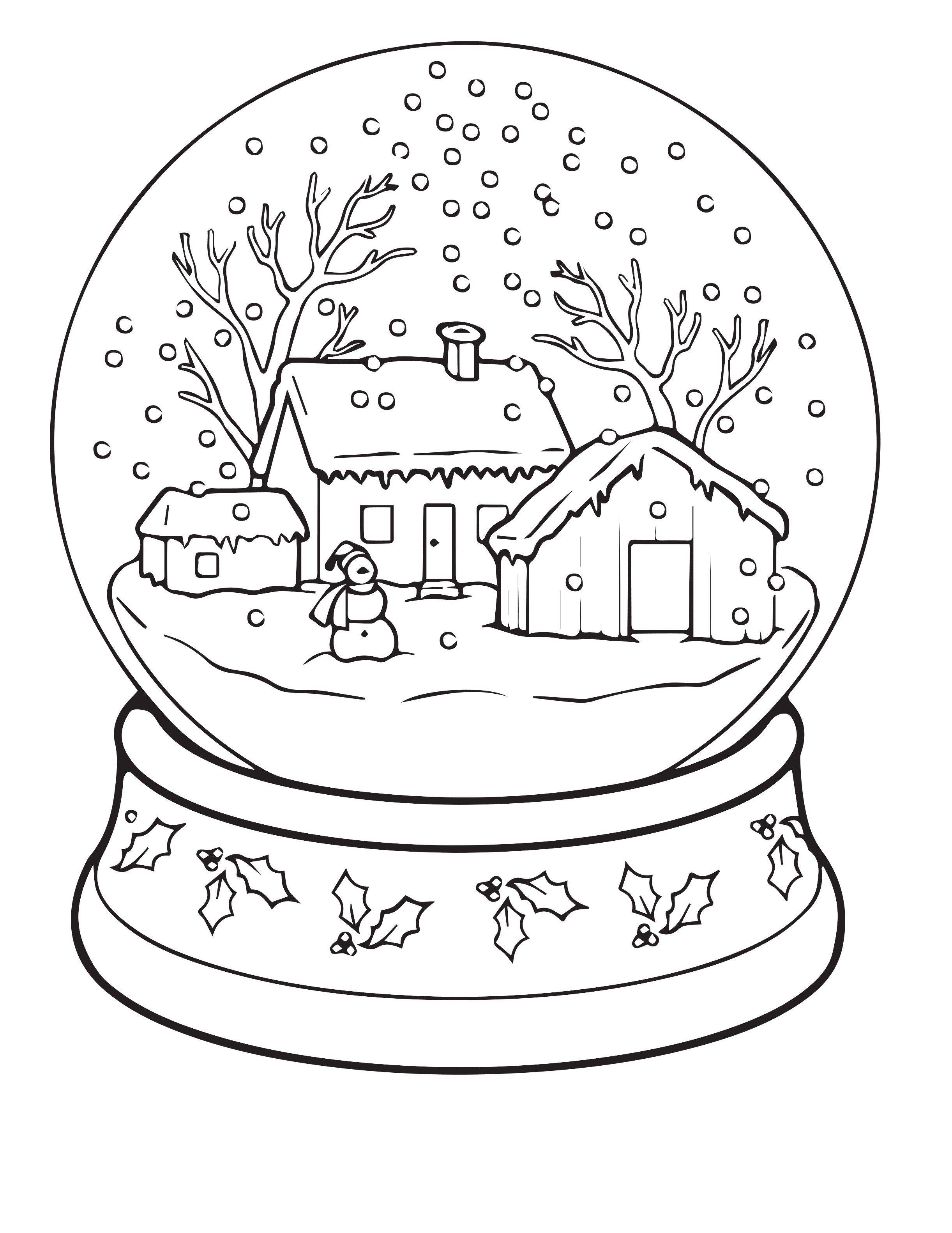 Diy 9 Kleurplaten Voor In De Kerstvakantie Kerst