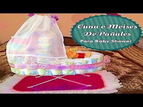 4671eac712f0 Cuna ó Moises De Pañales Para Baby Shower - YouTube | BEBE PAÑALES ...