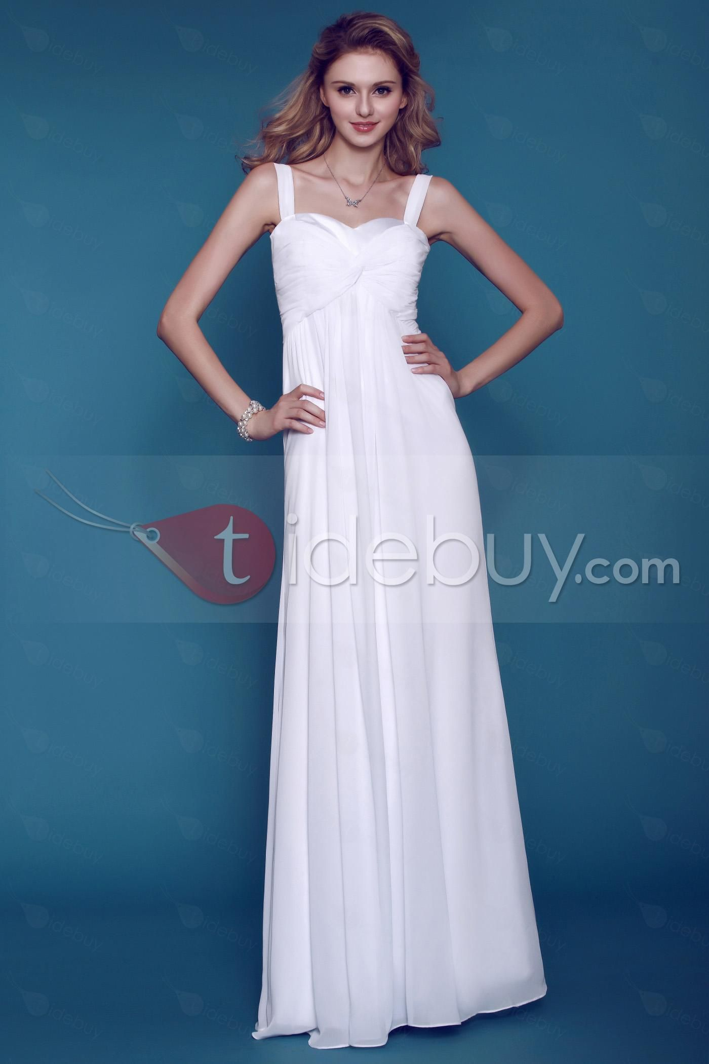 Chiffon wedding dresses  Airy Empire Dashaus SheathColumn Sweetheart Straps Beach Wedding