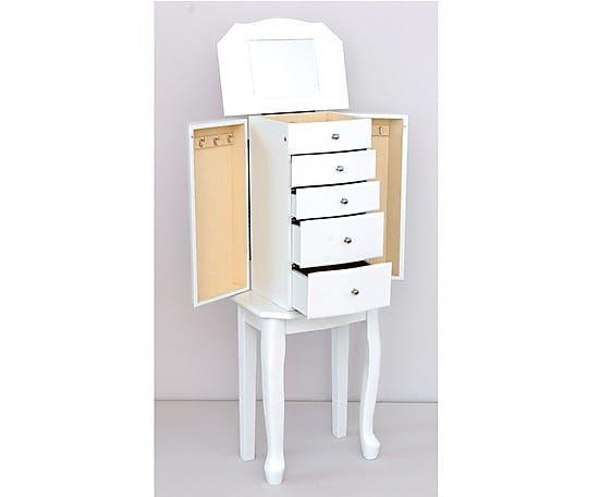 Mueble joyero de madera dm blanco proyecto joyeros y for Joyero mueble