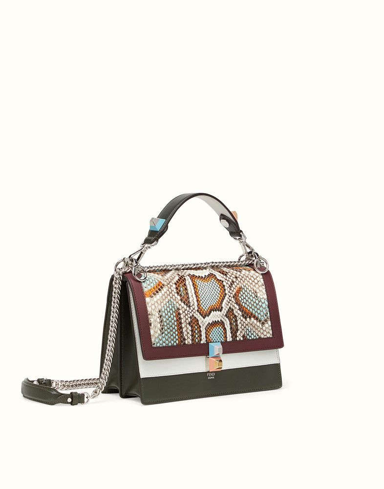 f9baae31f12a FENDI KAN I - Multicolored leather and python bag - view 2 detail ...