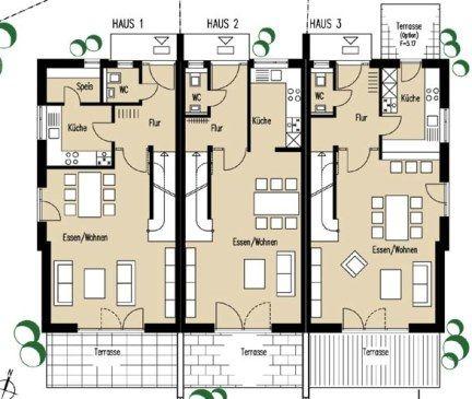 grundrisse reihenhaus Haus grundriss, Reihenhaus