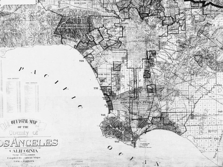Official Map of the County of Los Angeles, California, Laura