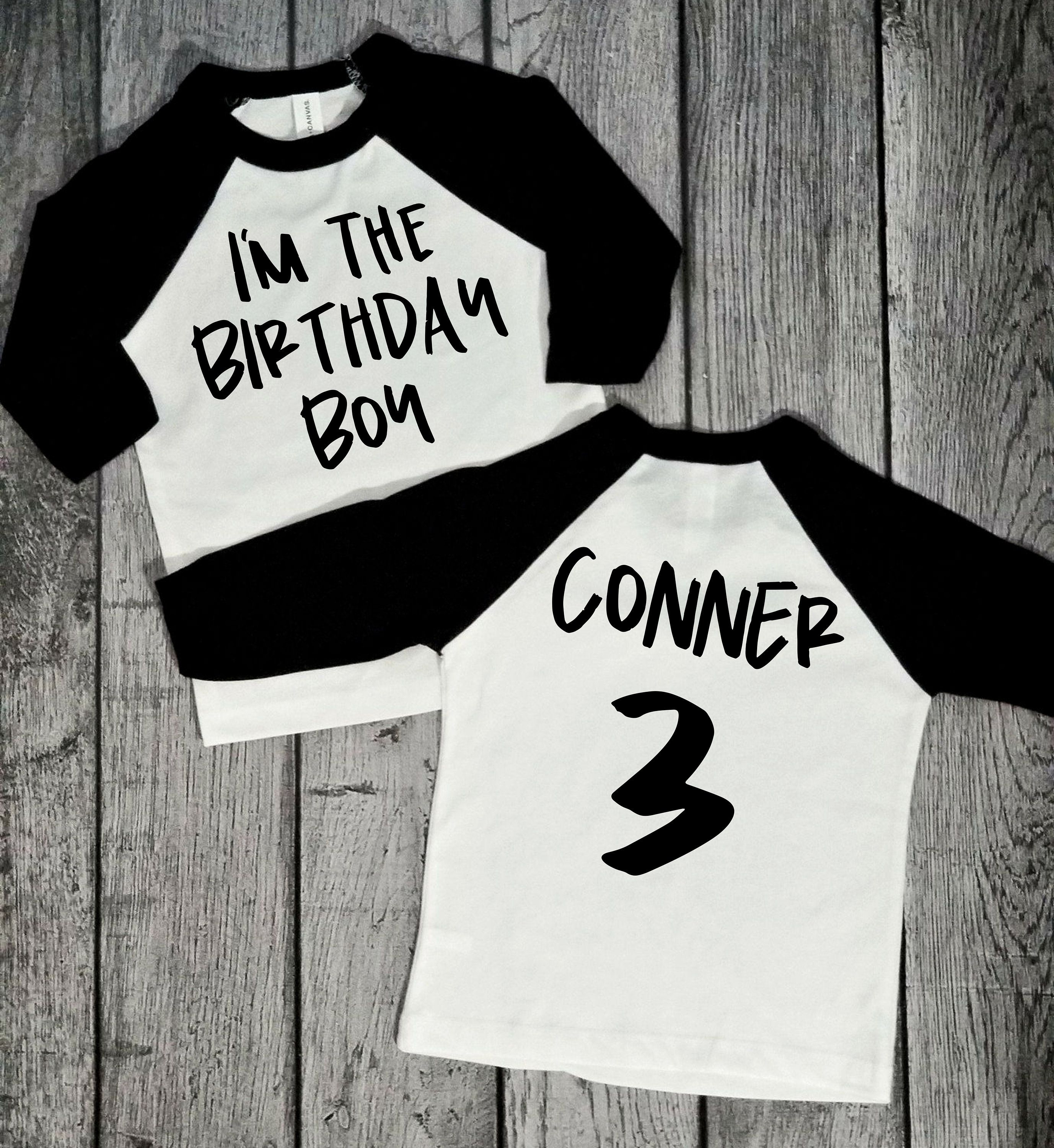Im The Birthday Boy 3rd Raglan Shirt Boys Third 3 Year Old