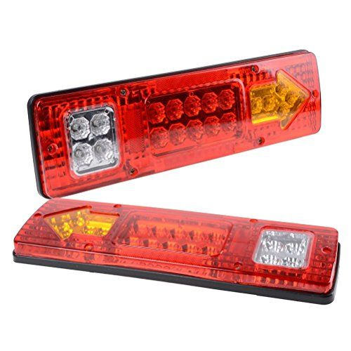 Perfectech Rv 19 Led Trailer Tail Lights Red White Amber Integrated Turn Signal Running Lamp For Atv Truck 12v 2pcs Led Trailer Tail Lights Tail Light Led