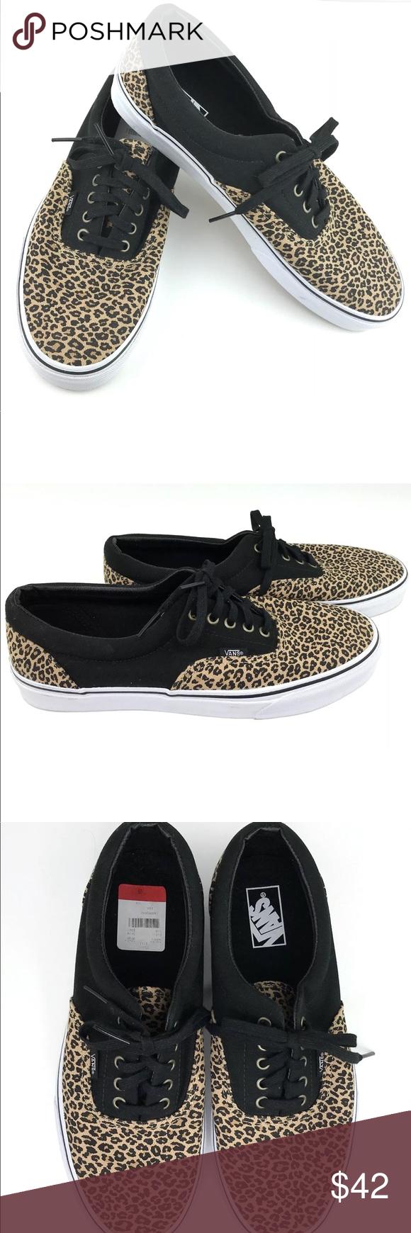 9df7f41e0adc60 Vans Era Men s 2 Tone Canvas Skate Board Shoes BRAND NEW WITHOUT BOX!! Vans  Era Men s 2 Tone Leopard Herringbone Canvas Skateboard Shoes US Size 11.5    EU ...