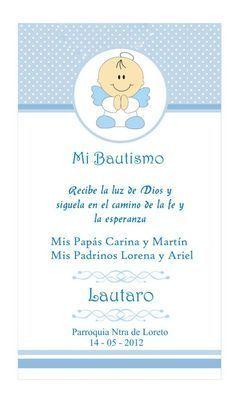 tarjetas de bautismo originales para varon  Buscar con Google