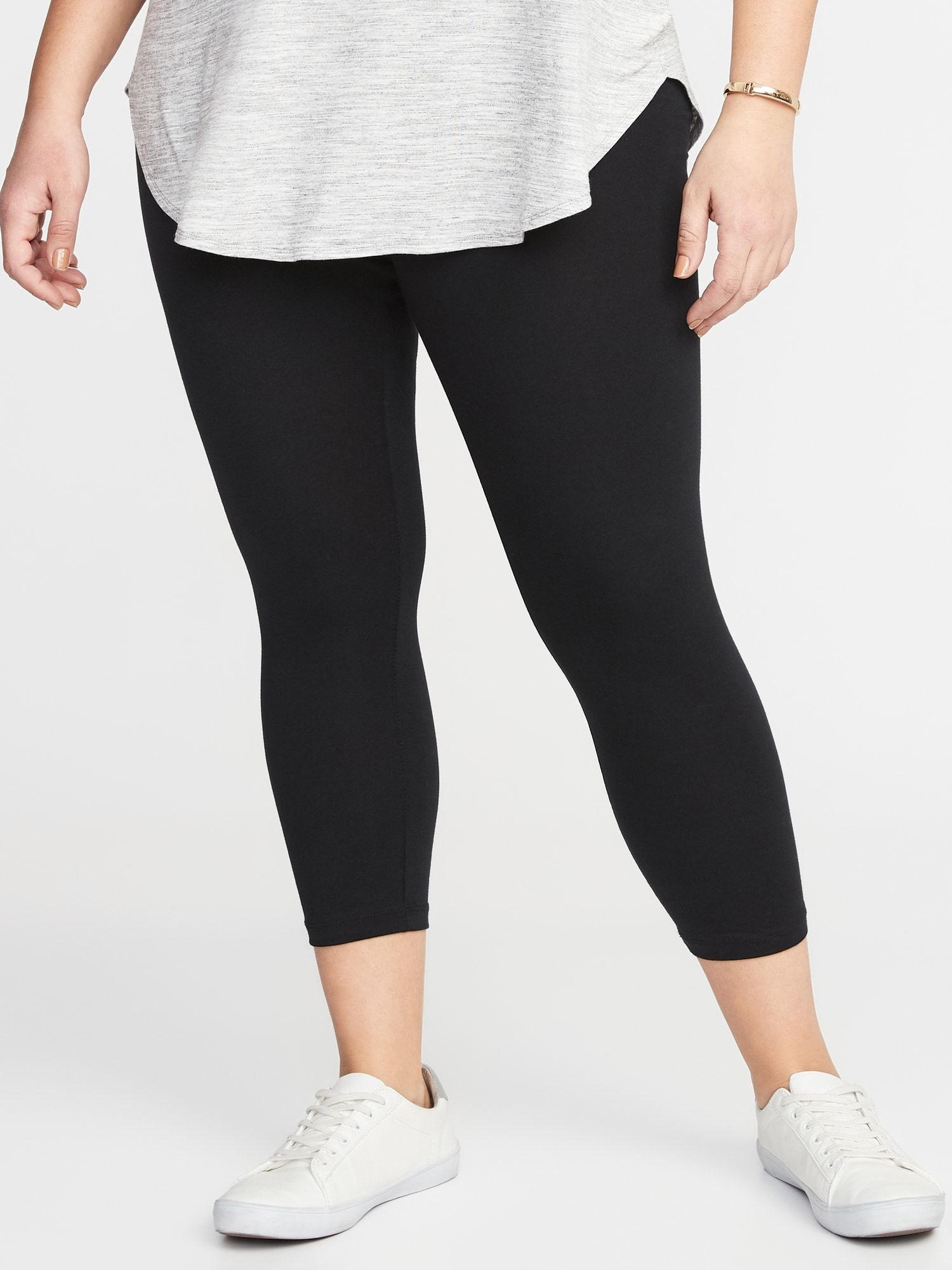 a5691ff6a2faa1 Cropped Jersey Plus-Size Leggings in 2019   My Style   Plus size ...