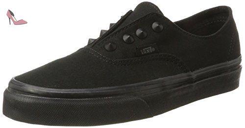 Vans Authentic Decon, Sneakers Basses Mixte Adulte, Noir (Premium Leather/Black/Black), 50 EU (15 UK)