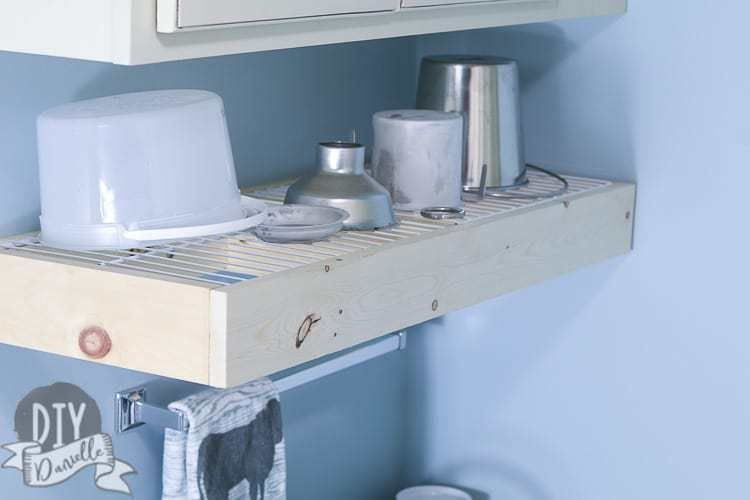 How to Make a Wall Mounted Dish Drying Rack - DIY Danielle