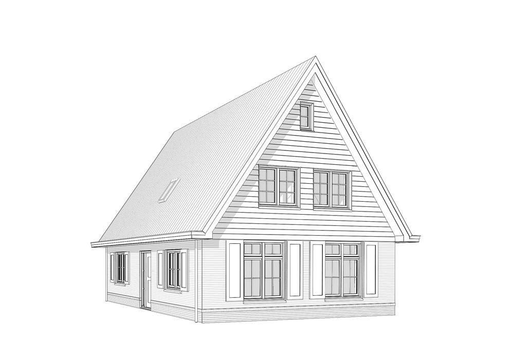 Kleine Kaap Draadmodel 2 Architectuur Huis Huis Architectuur