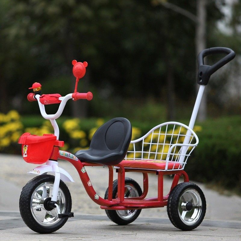 New Baby Twins Stroller Child Trike Double Tricycle Ride