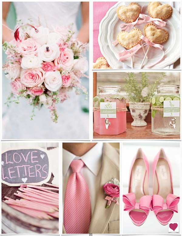 Romantic Pink Wedding Ideas Heart Love Weddings Pink Wedding Heart Wedding Invitations Pink Wedding Theme