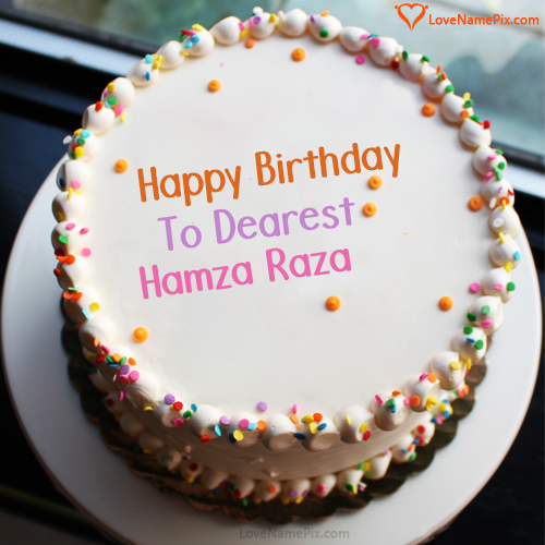 Pin By Nafisa Hussain On Hamza Raza Happy Birthday Cake Images