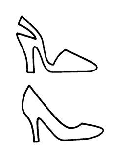 Template Ladies Shoe Cards Handmade Handmade Card Making Sparkly Shoes