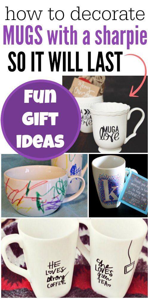 DIY Custom Mugs – Sharpie Mug! #custommugs