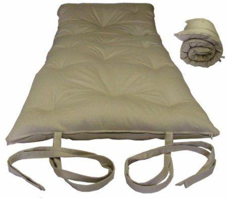 Brand New Queen Size Tan Traditional Japanese Floor Futon Mattresses Foldable Cushion Mats Yoga