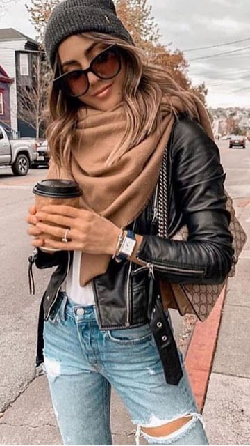 15 Cute and Casual Fall Outfit Ideas 2019 #winterfashion