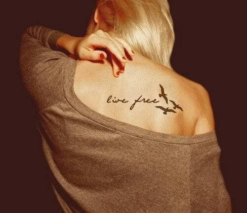 Loveeeeeee ; Live Free w/ Silhouette Birds