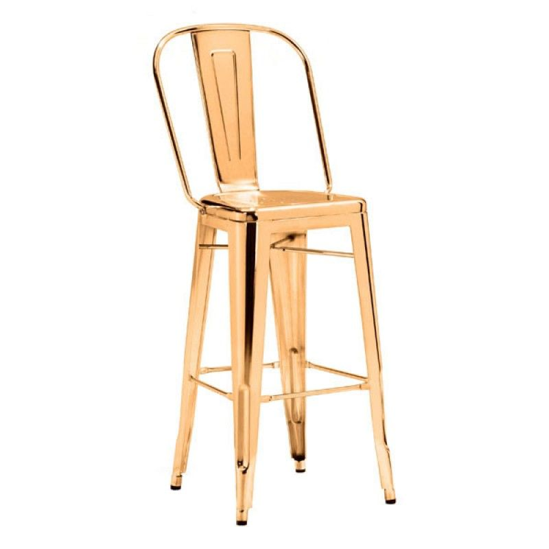 The Elio Bar Chair In Gold Will Accent Any Bar Restaurant Or