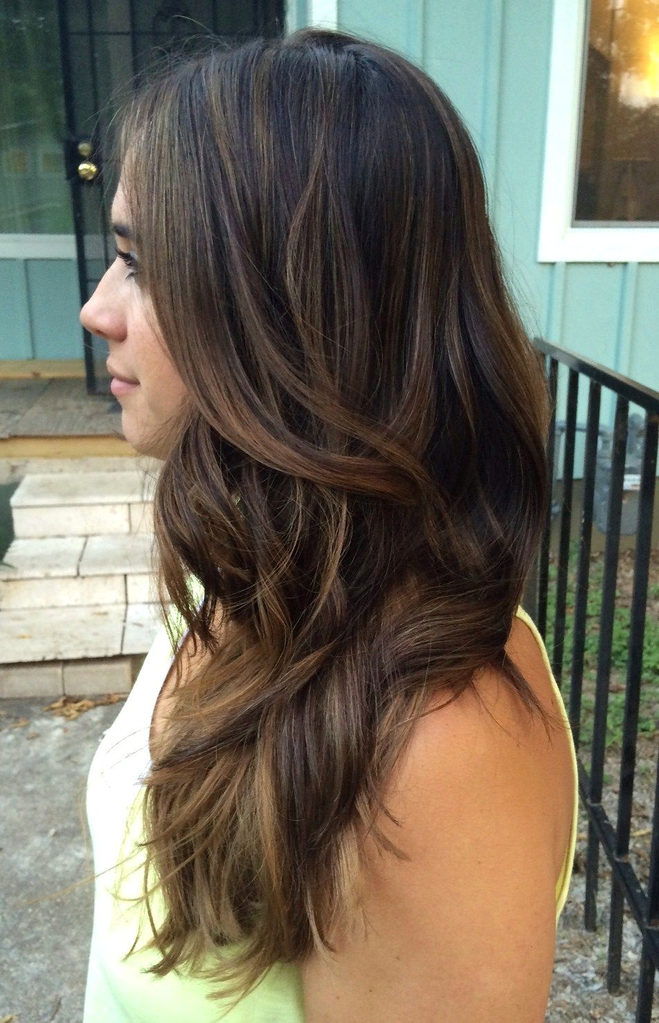 My Faux Balayage Technique For Dark Brunettes A Beautiful Blurry