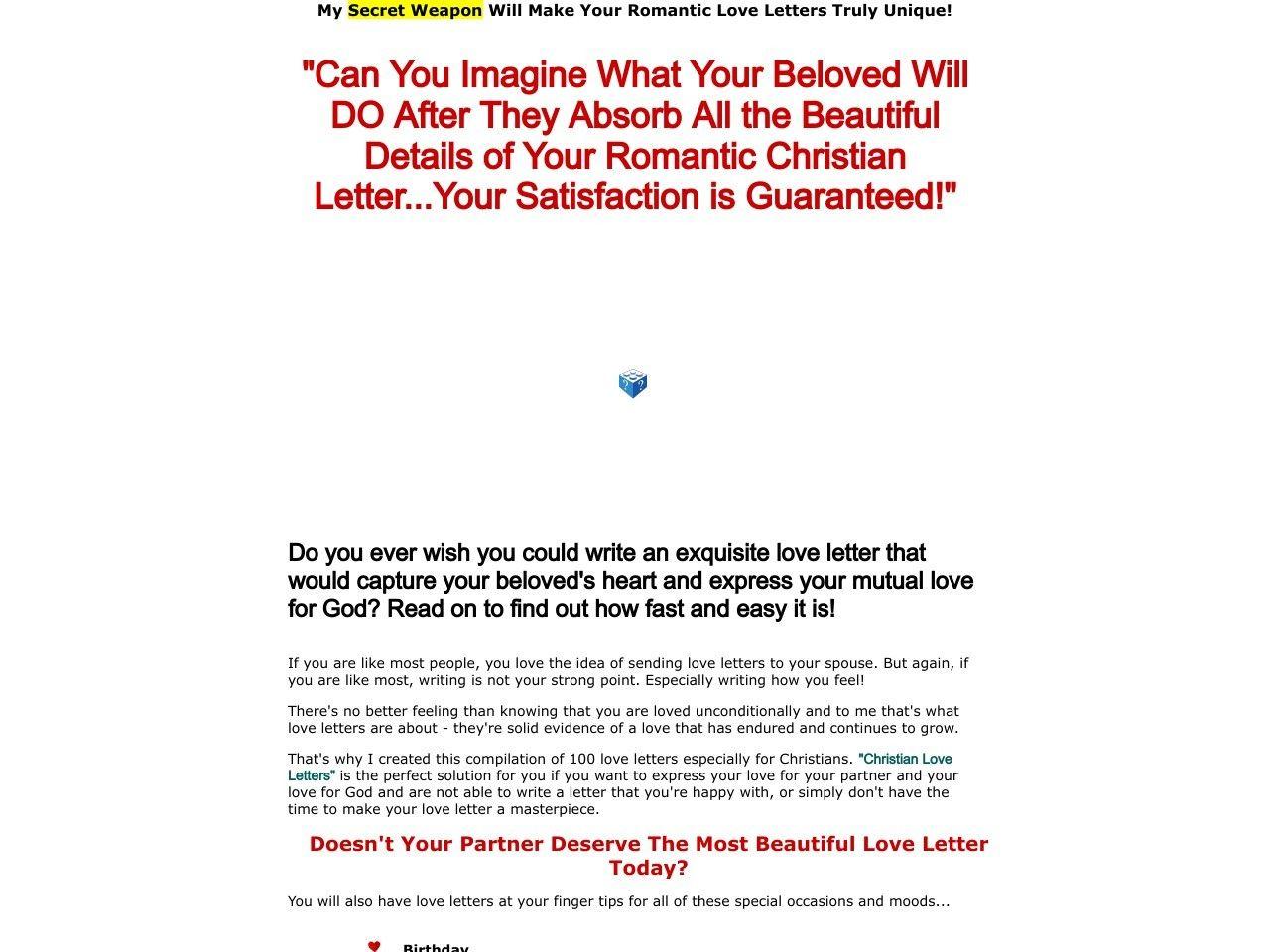 Christian Love Letter Package  HttpWwwVnulabBeLabReview
