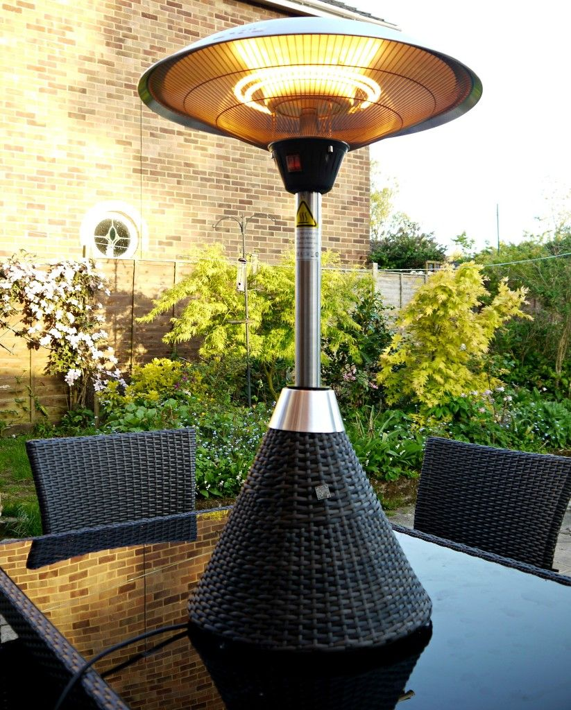 The Electric Table Top Patio Heater By Maze Rattan And White S Has Been Reviewed Renovation Bay Bee Blog I Love This Don T Have A