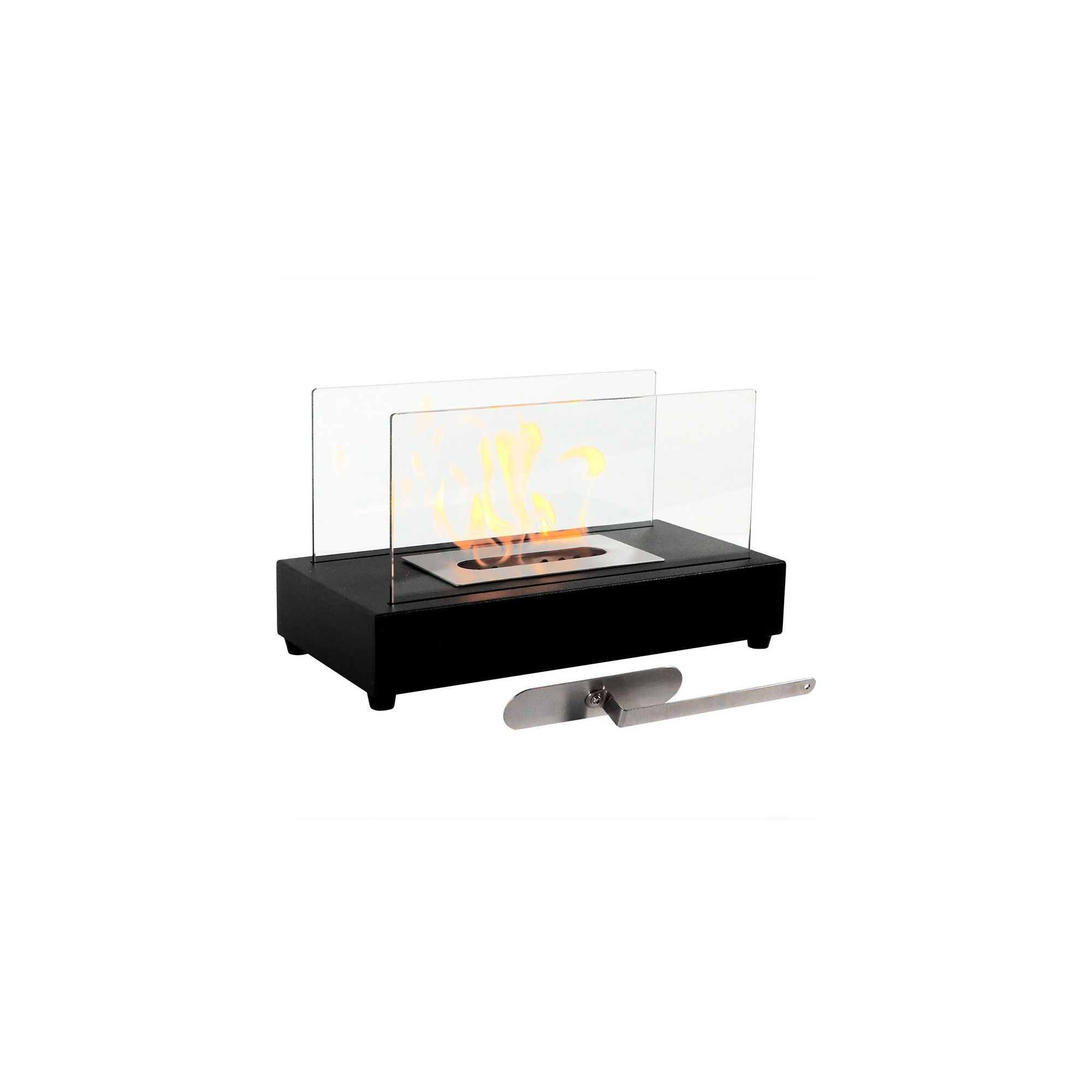 Sfeerhaard Bio Ethanol El Fuego Ventless Bio Ethanol Tabletop Fireplace Black